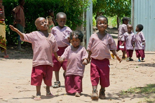 Kinder im Centro Educacional Julie Postel