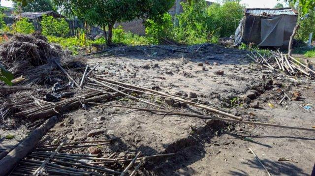 Folgen des Zyklons -ein zerstörtes Haus